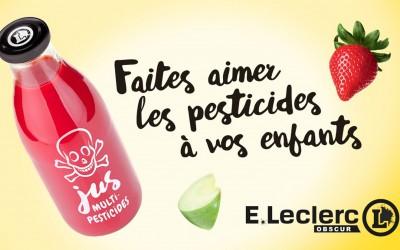 Campagne Greenpeace contre Leclerc: le «Jus multi-pesticides» qui plait à vos enfants!